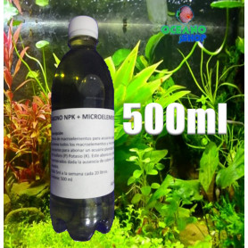 Abono npk + micros 500 ml acuario liquido barato plantado glutaraldehido