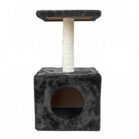 Poste Rascador Gato con Casa un Piso 27x27x57 cm