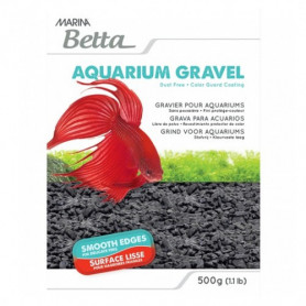 Grava para Betta Color Negro 500g MARINA
