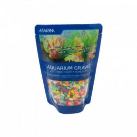 Grava Color Arcoiris 450g MARINA especial pequeños acuarios